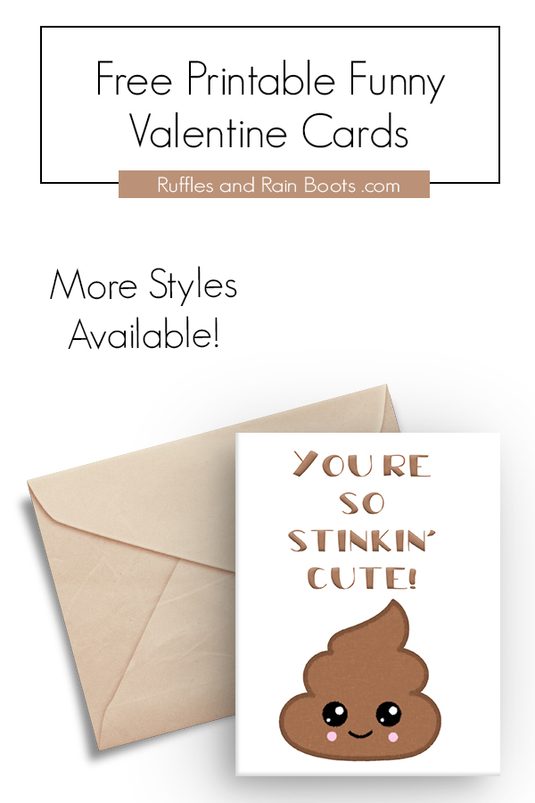 Poop Emoji So Stinkin Cute Valentines Day Card Anniversary