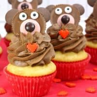 Adorable Teddy Bear Cupcake for a Special Treat