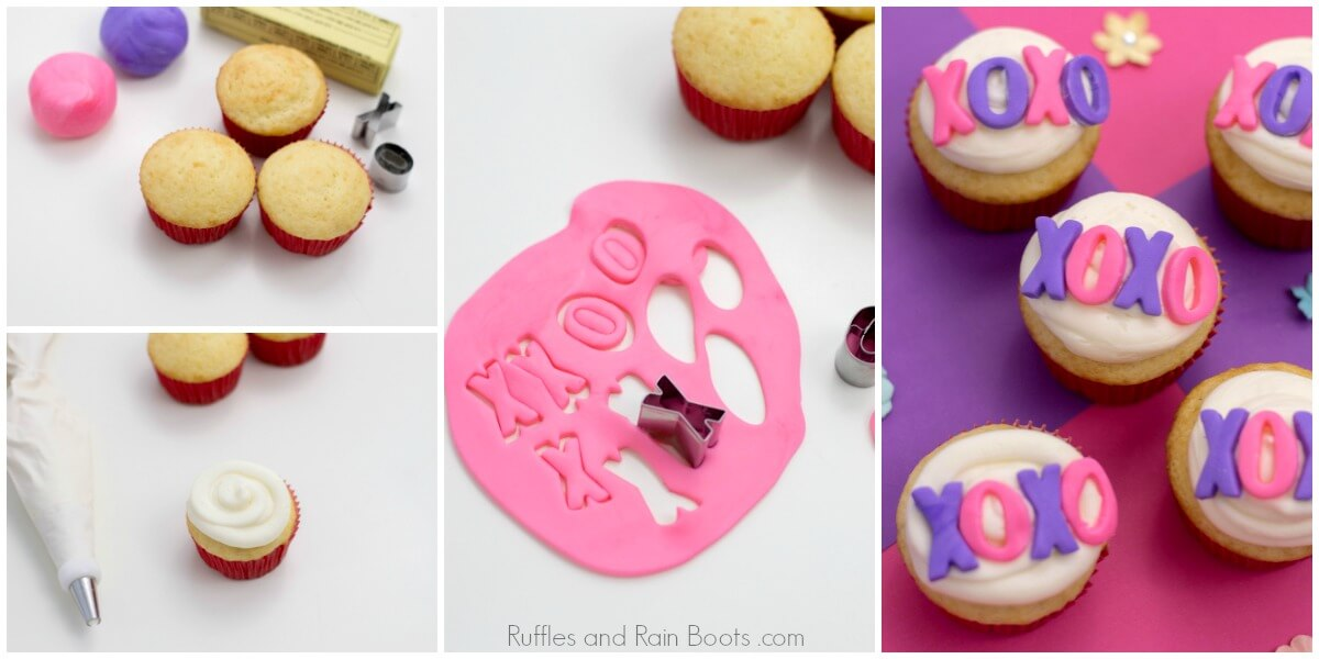 how to make easy Valentine's Day cupcakes