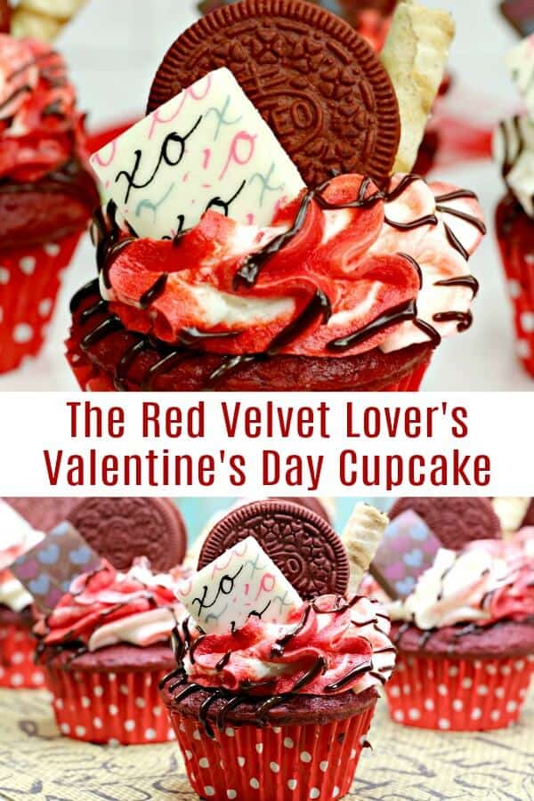 These red velvet cupcakes are decadent, divine, downright fun. Click to see how you can make them easily. #cupcakeideas #ValentinesDay #redvelvet #redvelvetcupcake #redvelvetrecipes #rufflesandrainboots