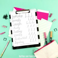 Free Letter L Hand Lettering Practice Sheets