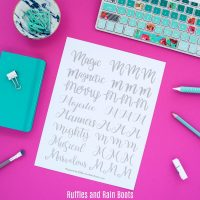 Free Letter M Hand Lettering Practice Sheets