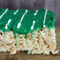 Fun and Easy Football Field Rice Krispies Treats