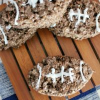 Football Shaped Rice Krispies – So Much Fun!