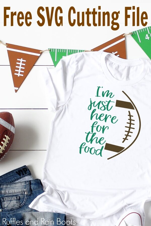 t-shirt project idea for free football SVGs with text which reads free svg cutting file