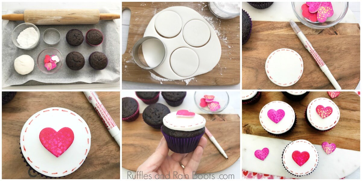 how to make Valentine's Day cupcakes with love letters