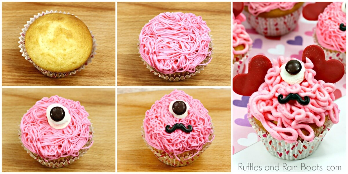 how to make monster cupcakes photo collage