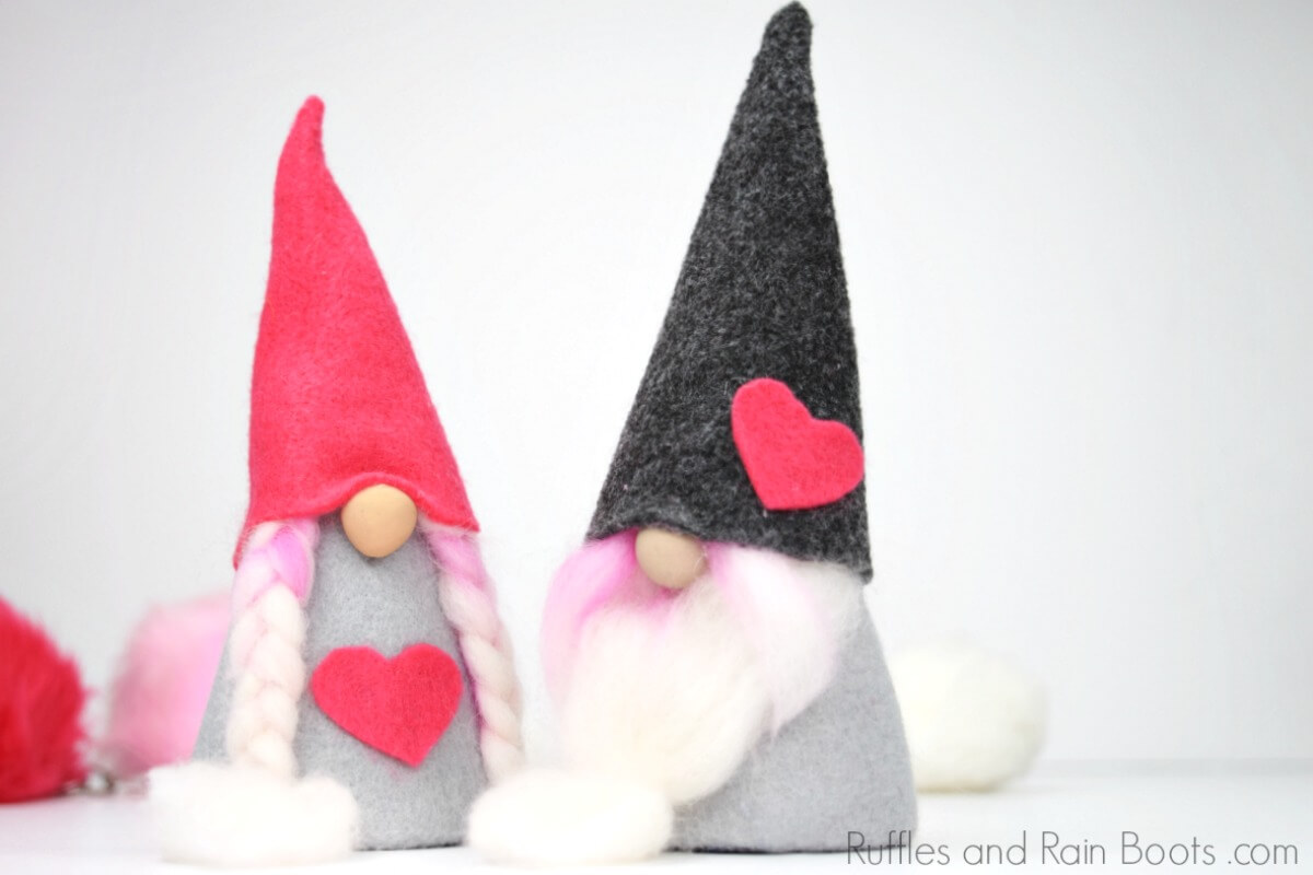 DIY gnome tutorial for Valentines day gnomes