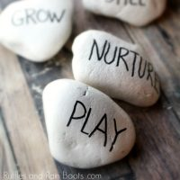 Rae Dunn Rock Painting – Inspiring Rocks for the Garden