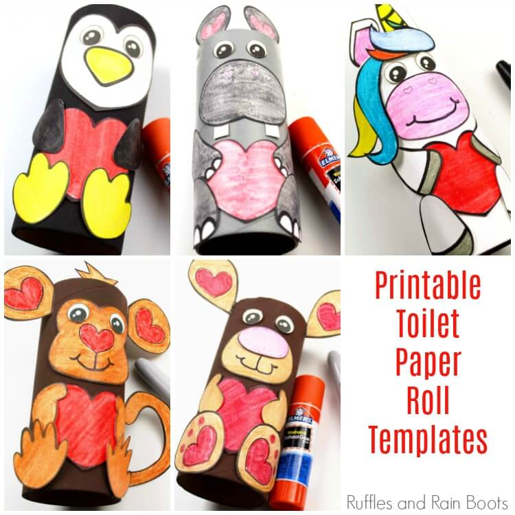 photo about Printable Animals named Lavatory Paper Roll Pets Free of charge Printable