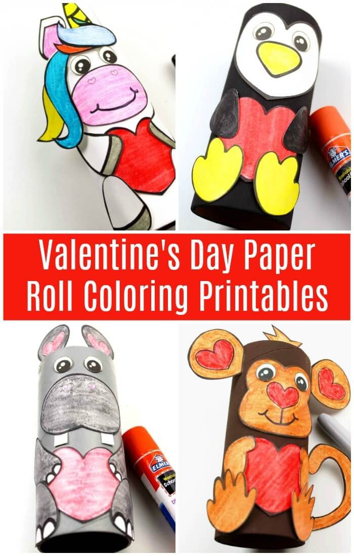 toilet paper roll animals printable craft for kids