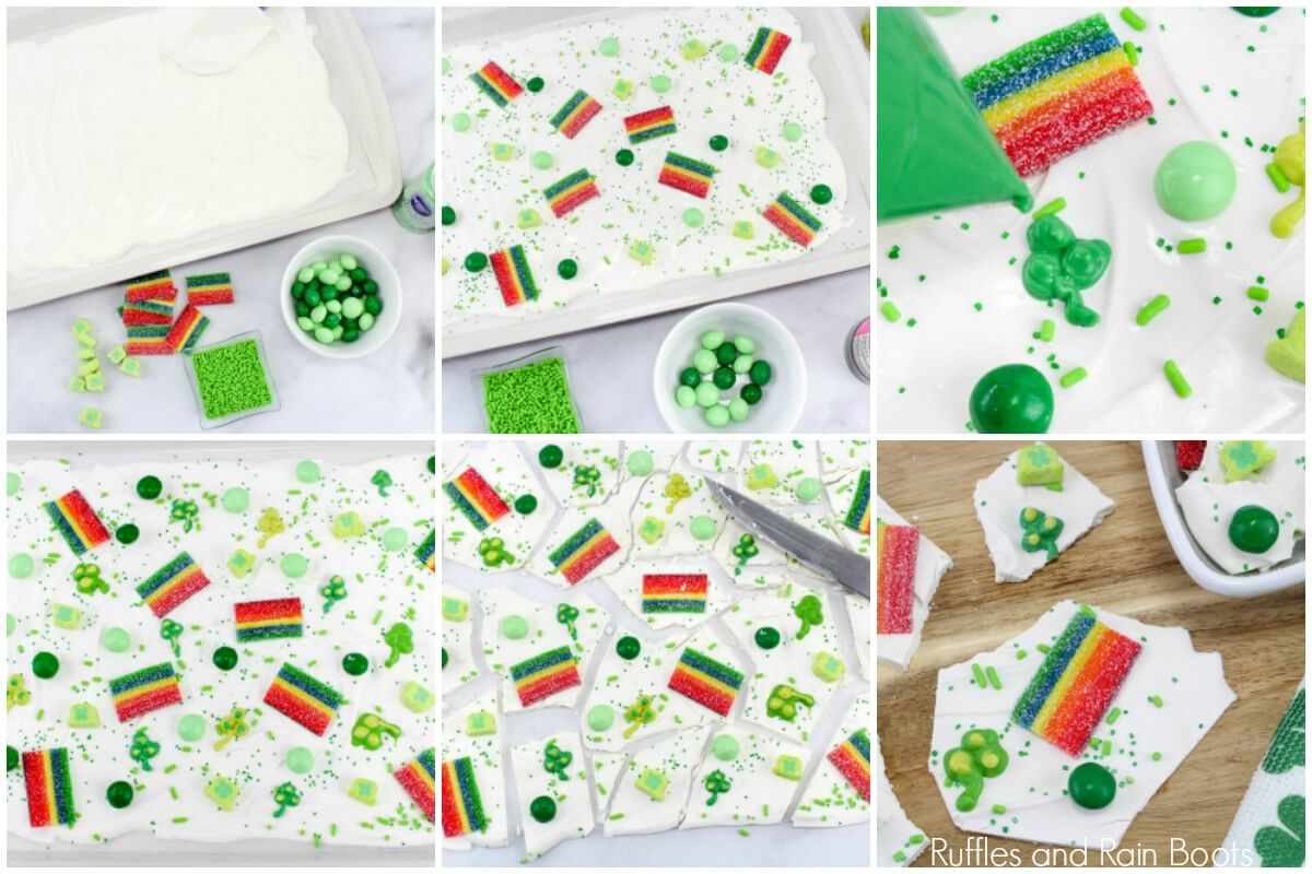 learn how to make candy bark for St Patrick's day