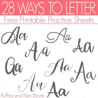Ways to Letter A – Free Hand Lettering Practice Sheets