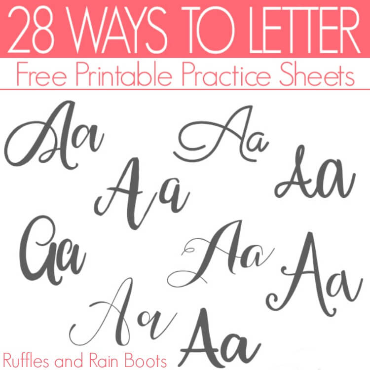 28 Ways to Letter A