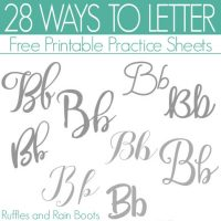 Ways to Letter B – Free Hand Lettering Practice Sheets