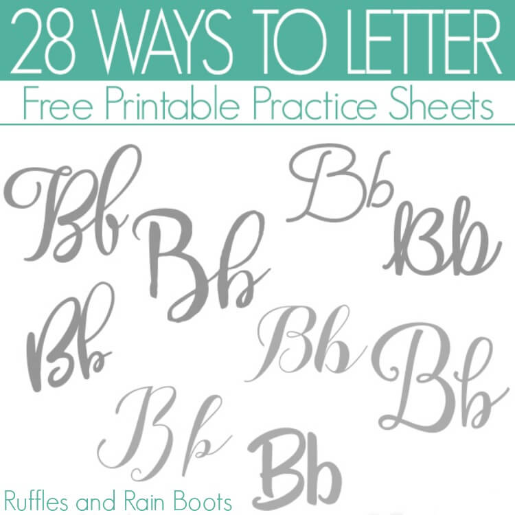 28 Ways to Letter B