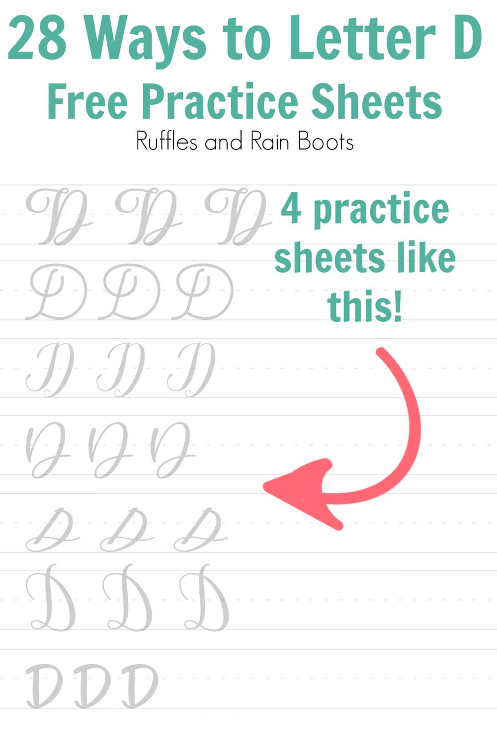 learn how to letter D for brush calligraphy
