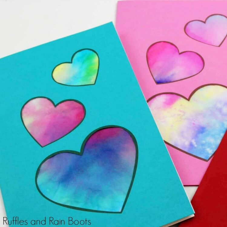 Coffee Filter Heart Card with Printable