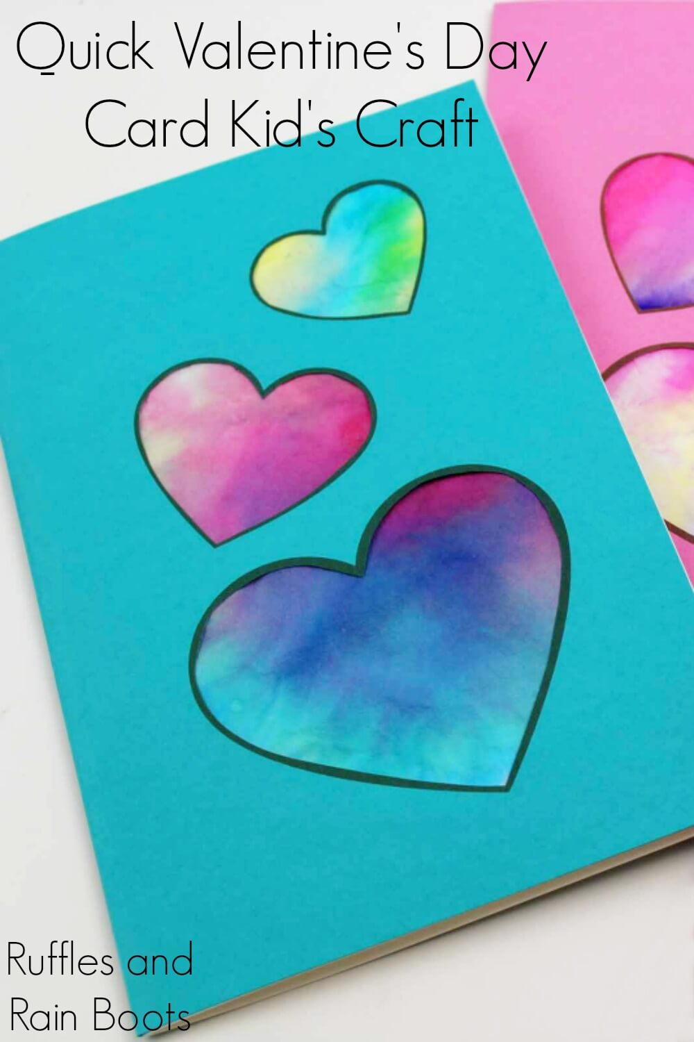 blue Coffee Filter Heart Card with Printable
