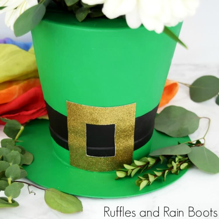 Leprechaun Hat Vase for St Patricks Day