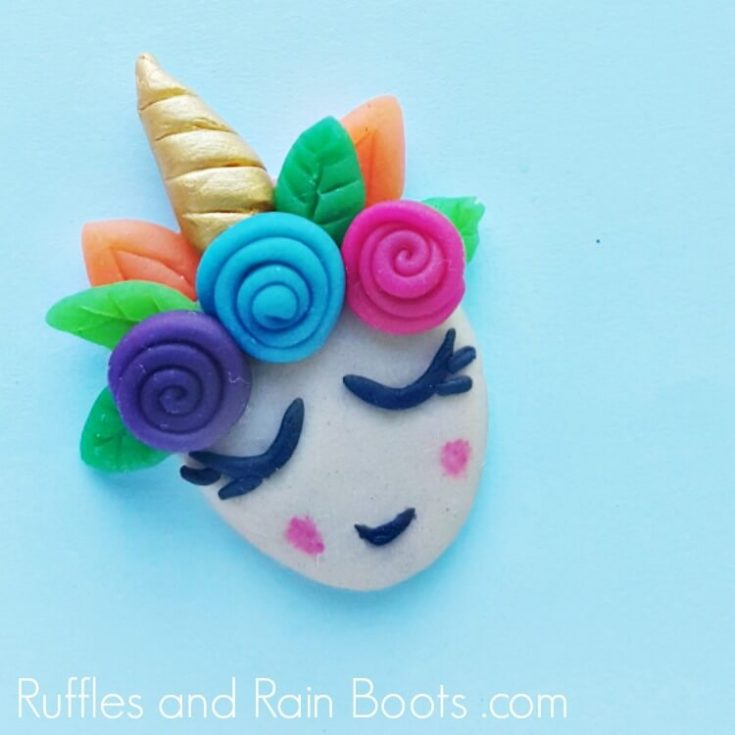 Clay Unicorn Charm