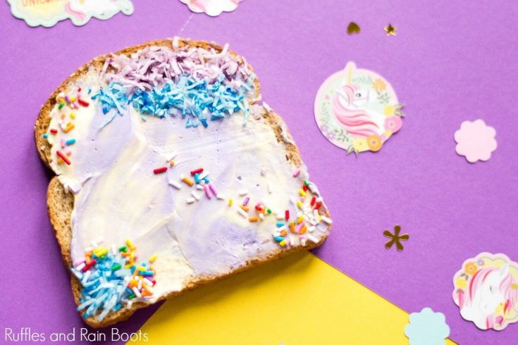 Unicorn Toast for a Special Birthday Breakfast