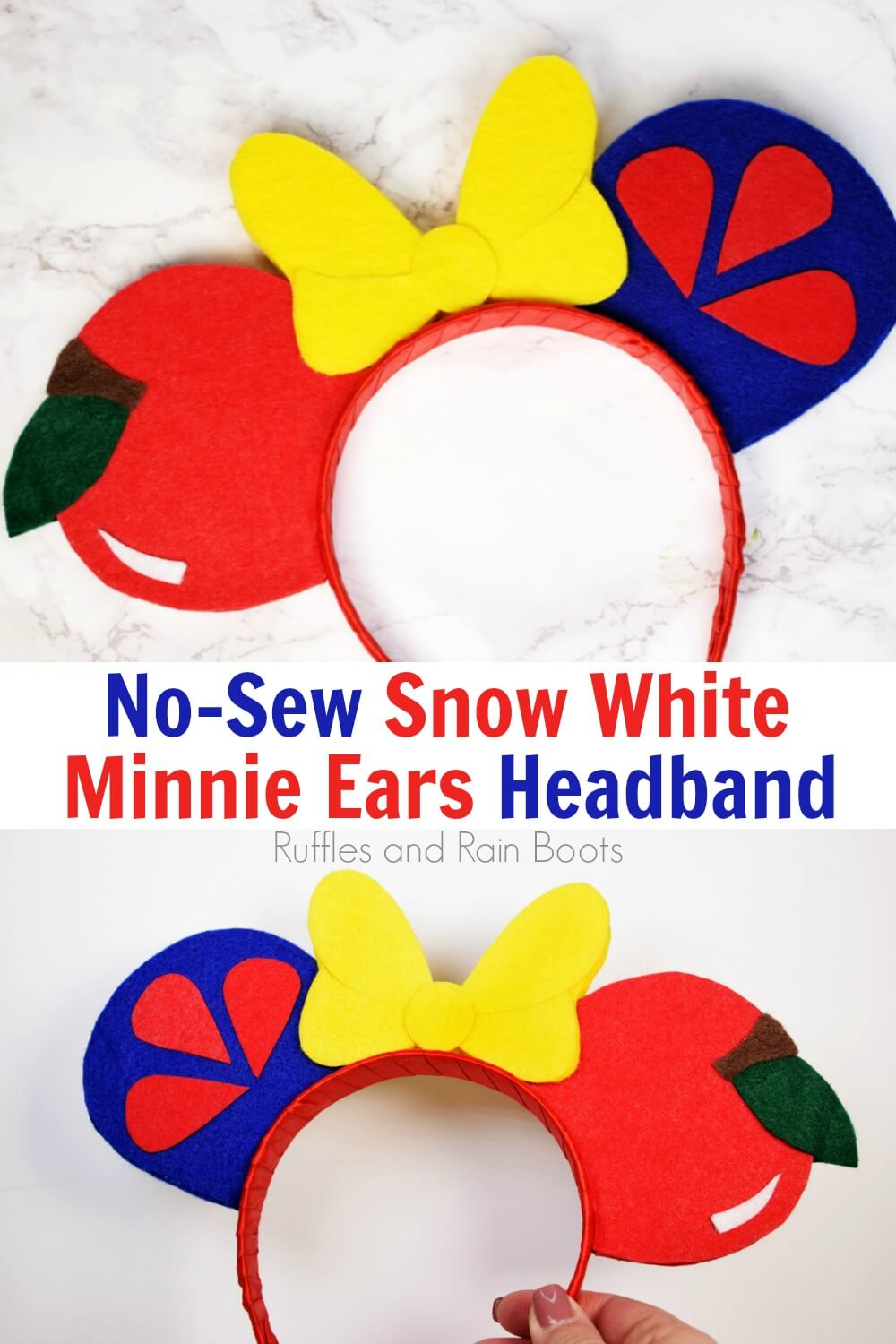 photo collage of Snow White Mickey Ears for Disney