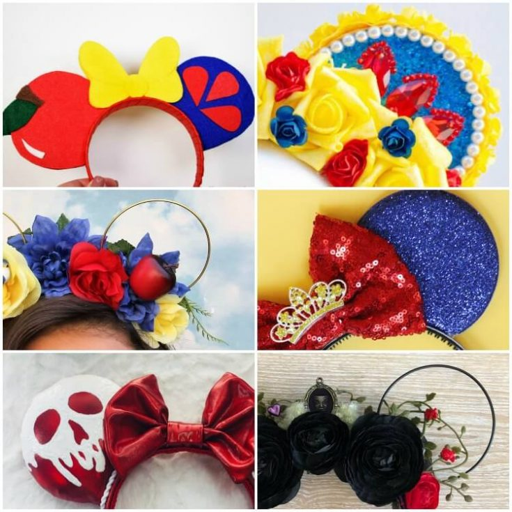 The Best Evil Queen Minnie Ears (and Snow White, too!)
