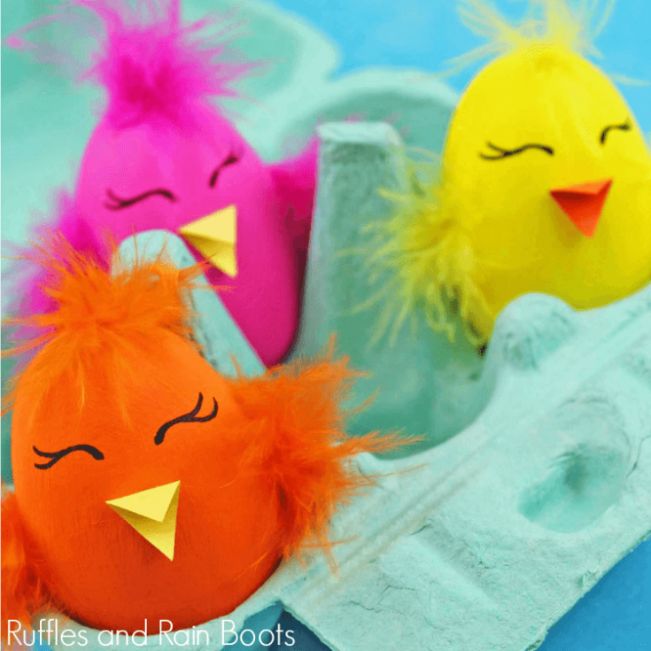 Adorable Chick Easter Egg Craft
