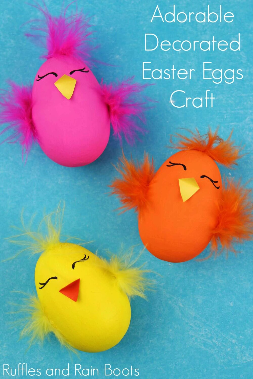 Adorable Chick Easter Egg Craft Ruffles And Rain Boots