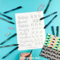Free Letter N Hand Lettering Practice Sheets