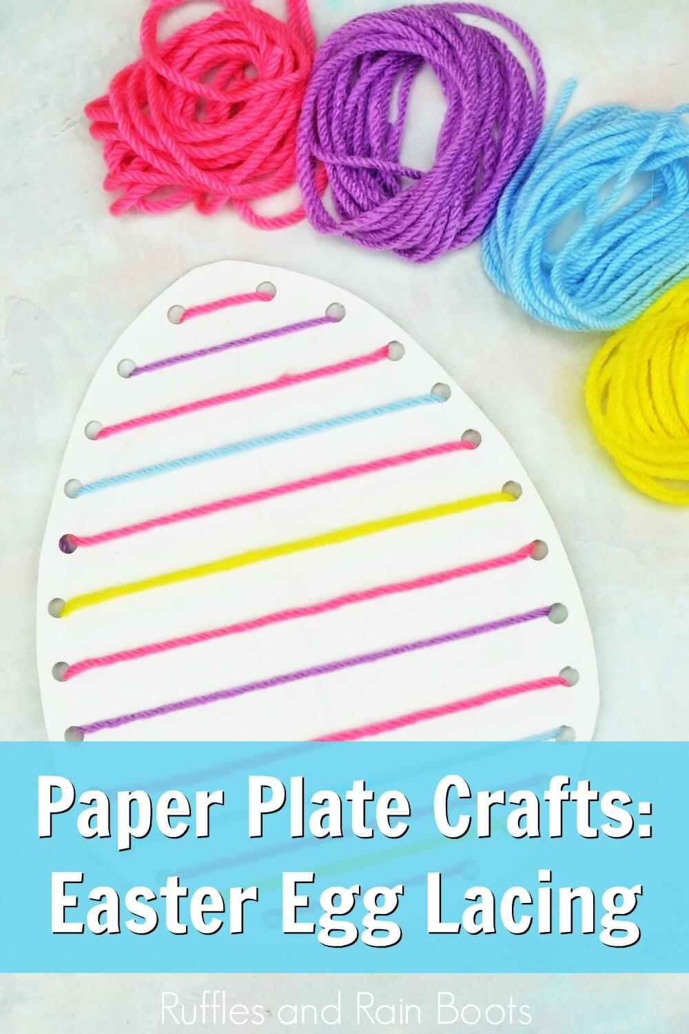 Fun Easter Egg Lacing Craft For Kids Ruffles And Rain Boots