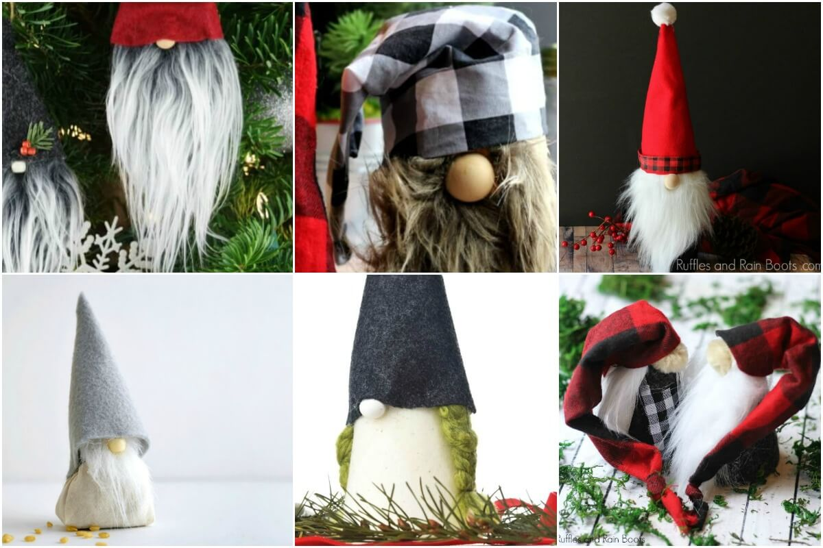 christmas gnomes collage