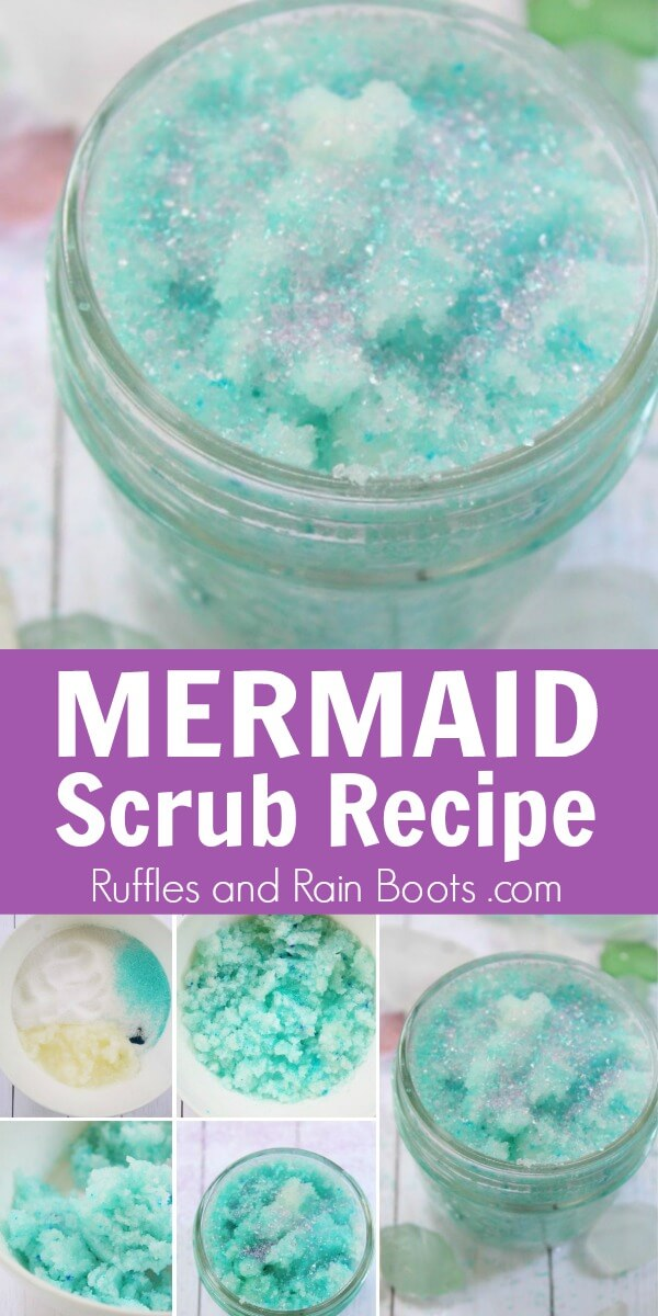 You can make a fun, exfoliating mermaid sugar scrub for rough, tired feet. Add a little fun to your pampering!