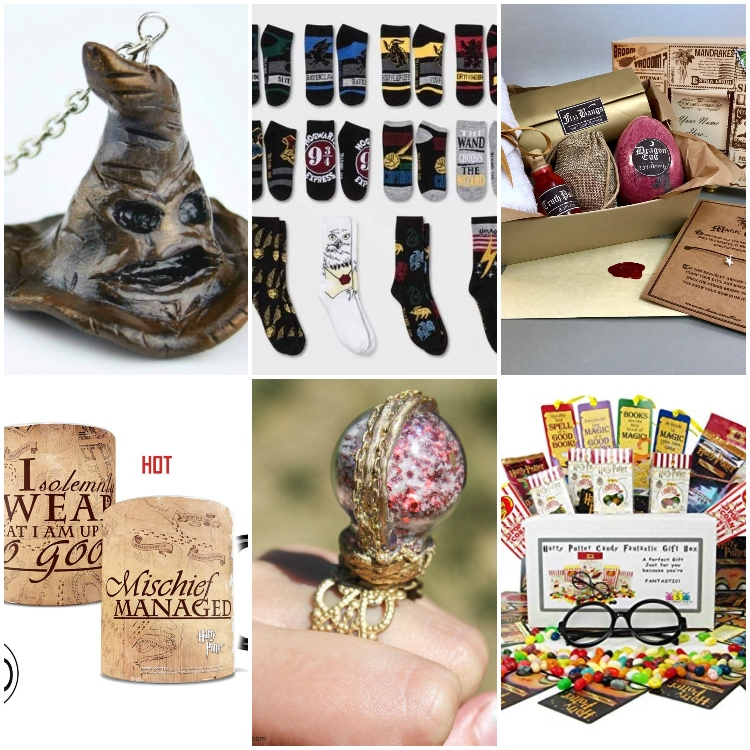 photo collage of harry potter gifts to make or buy