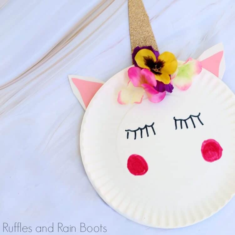 Unicorn Paper Plate Craft – A Quick Craft for Kids