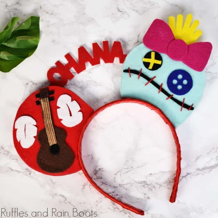 Lilo Mickey Ears - Lilo and Scrump headband