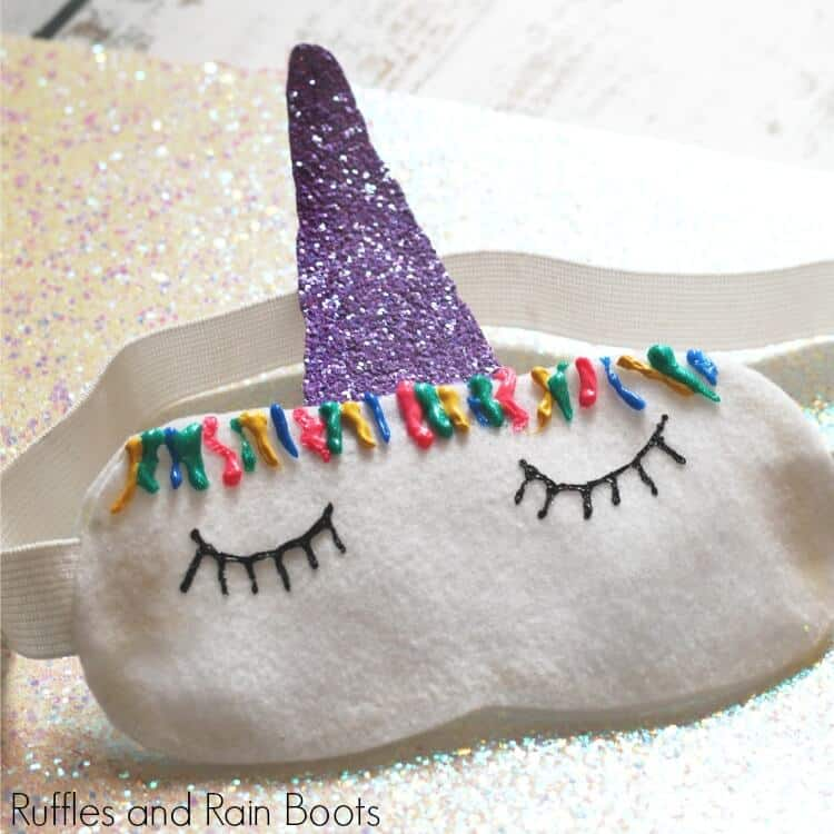 This Unicorn Sleep Mask is No-Sew and Too Cute!