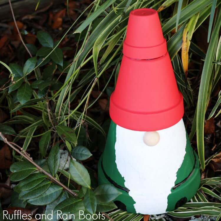 Clay Pot Gnome Statue for the Garden – Too Cute and Easy!