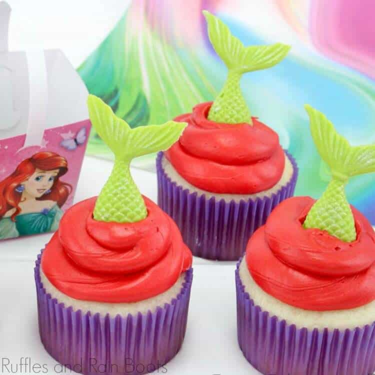 Easy Little Mermaid Cupcakes Will Make Them Sing