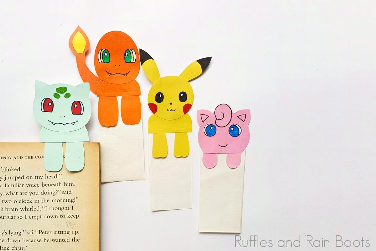 Who loves Pokemon? Making super easy origami - Pikachu Bookmark ... | 800x1200