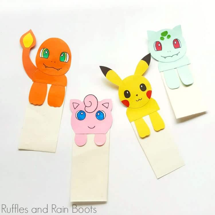 pokemon bookmarks on a white background