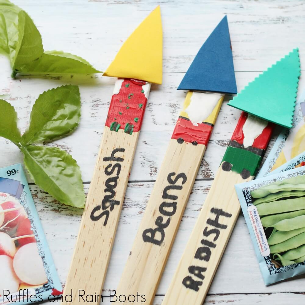Garden Gnome Plant Markers Kid Craft