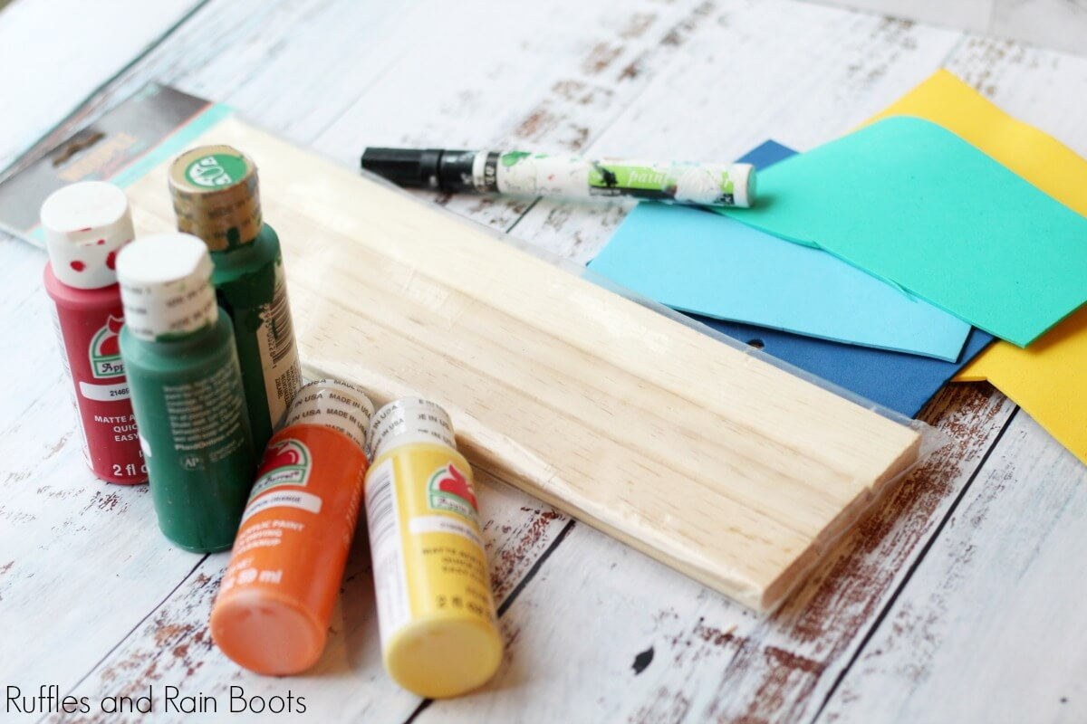 materials needed to make gnome plant markers