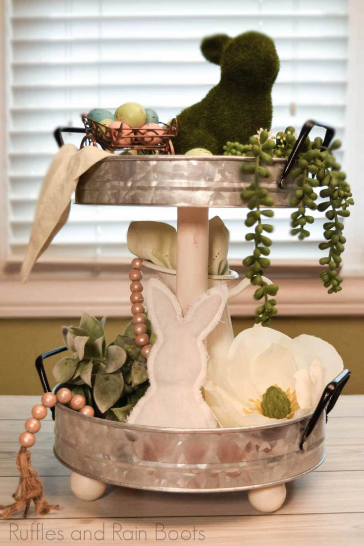 DIY Farmhouse Tiered Tray That Doesn't Wobble!