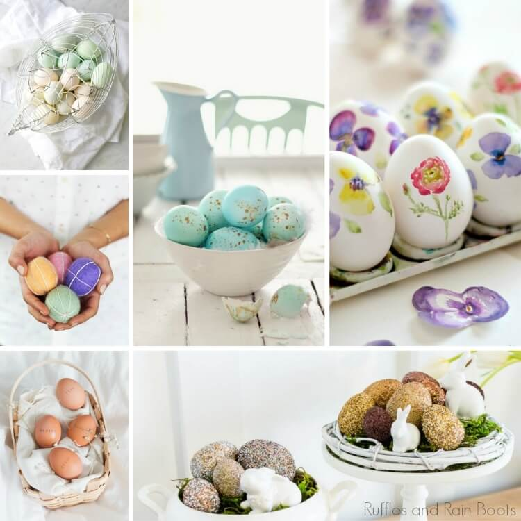 how to decorate with eggs for a farmhouse easter