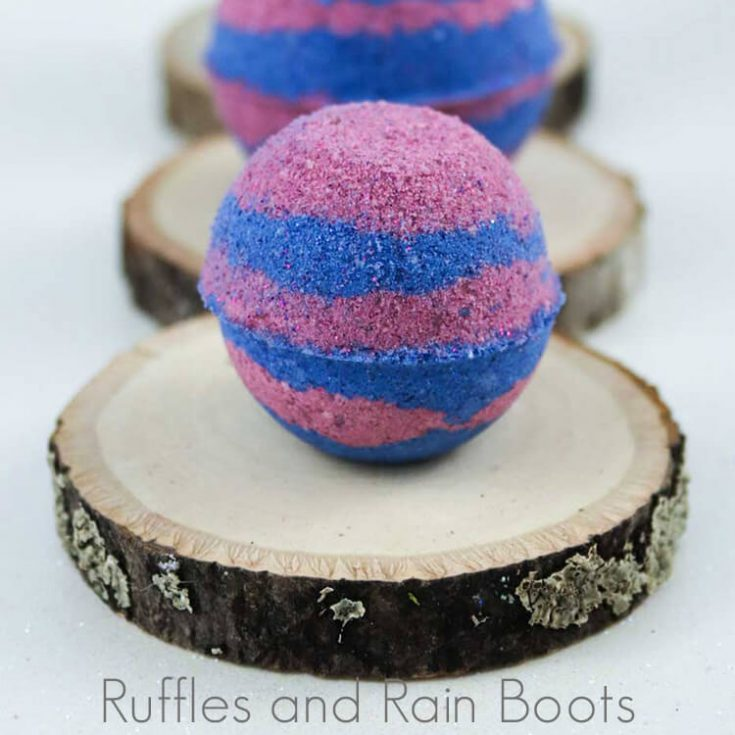 These princess Anna bath bombs are the perfect gift for any Disney fan. The bath bomb recipe is a tried-and-true  mix anyone can make.
