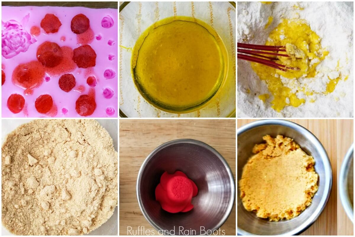 photo tutorial of how to make bell bath bombs