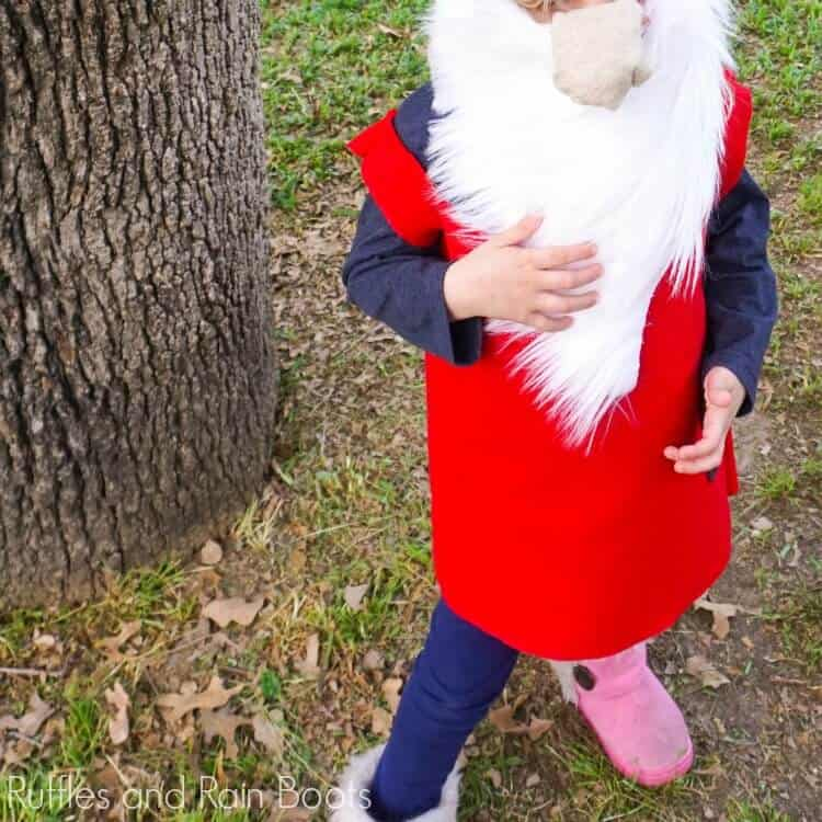 This Easy No-Sew DIY Gnome Costume is Perfect for Halloween