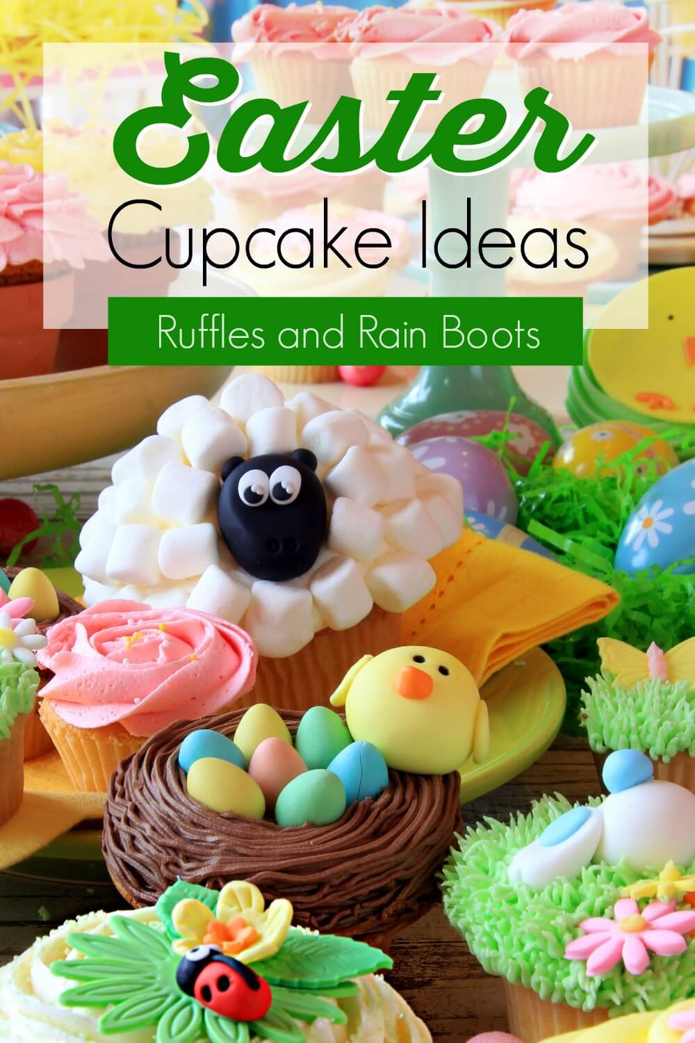easy and adorable Easter cupcake decorating ideas